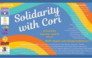 Solidarity with Cori