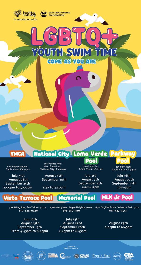 LGBTQ+ Youth Swim Time